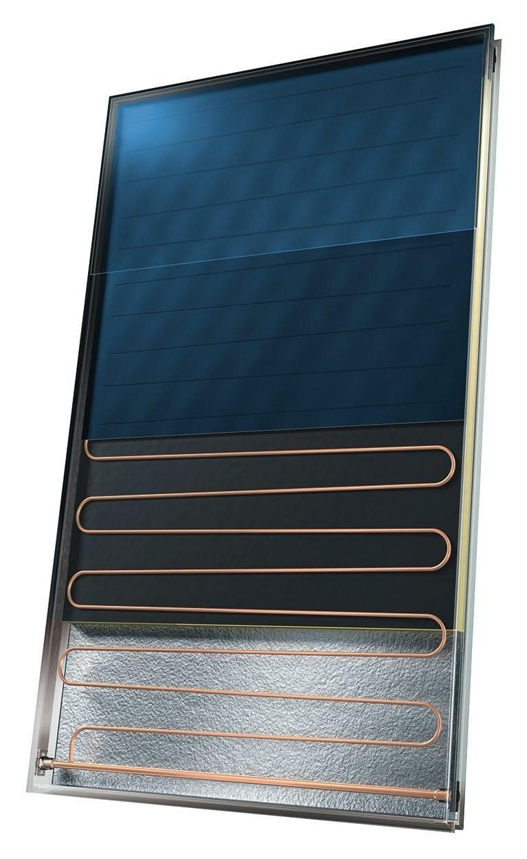 A cutaway solar Panel